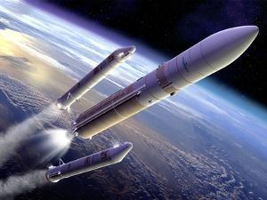 Ariane 5 Rocket Launch, Artwork by David Ducros
