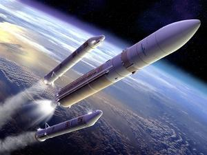 Ariane 5 Rocket Launch, Artwork by David Ducros
