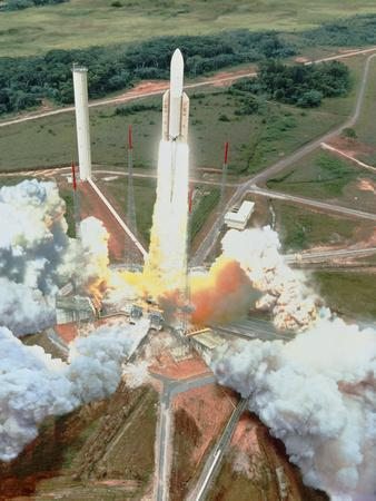 Artist's Impression of the Launch of An Ariane 5
