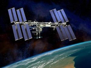 International Space Station, Artwork by David Ducros