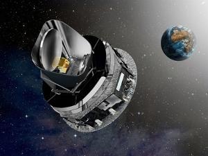 Planck Space Observatory, Artwork by David Ducros