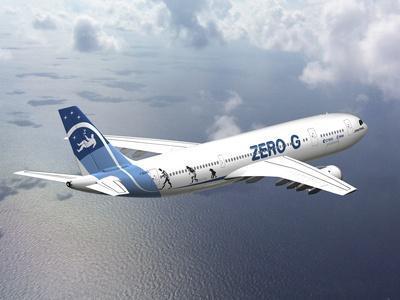 Zero-G Airbus Aircraft, Artwork