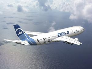 Zero-G Airbus Aircraft, Artwork by David Ducros