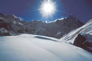 Annapurna Is Seen from a High Camp for Climbers by David Edwards