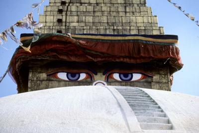 Eyes of a Temple Stare Out in Katmandu
