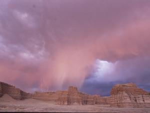 Lightning Storm over Tohachi Canyon, in the Painted Desert by David Edwards