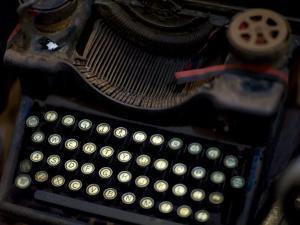 Antique Typewriter in a Shop by David Evans