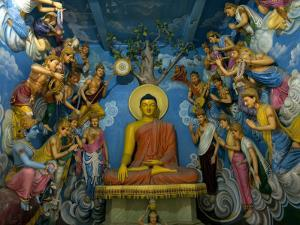 Buddha Statue and Figures in the Nayaja Temple by David Evans