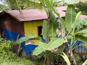Colorful Home in the Nicaraguan Town Along Costa Rican Border by David Evans