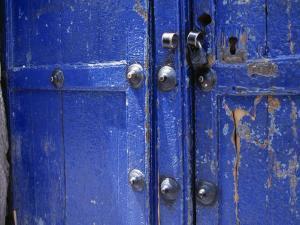 Detail of Weathered Blue Doors by David Evans