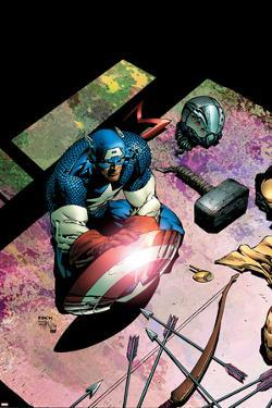 Avengers No.503 Cover: Captain America and Mjolnir by David Finch