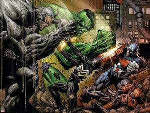Fallen Son: The Death Of Captain America No.4 Group: Spider-Man by David Finch