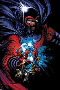 March On Ultimatum Saga Cover: Magneto by David Finch