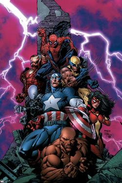 New Avengers No.1 Cover: Spider-Man by David Finch