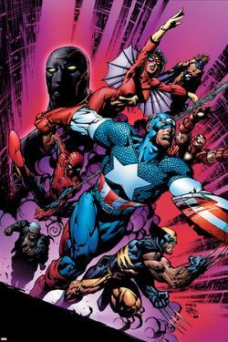 New Avengers No.12 Cover: Captain America by David Finch