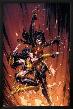 New X-Men No.45 Cover: X-23 and Lady Deathstrike by David Finch