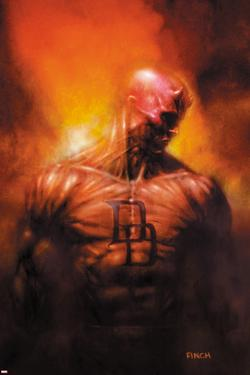 Shadowland: After The Fall No.1 Cover: Daredevil Standing by David Finch