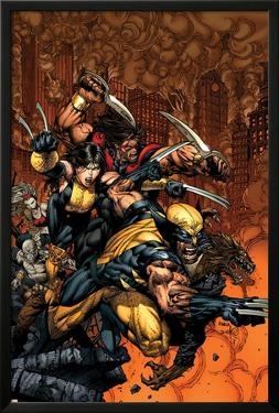 X-Factor No.26 Cover: Wolverine and X-23 by David Finch
