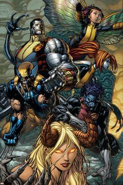 X-Infernus No.2 Cover: Darkchylde, Colossus, Wolverine, Nightcrawler, Pixie and Mercury by David Finch