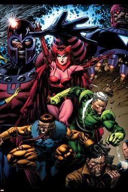 X-Men: Legacy No.209 Cover: Toad, Quicksilver, Scarlet Witch and Magneto by David Finch