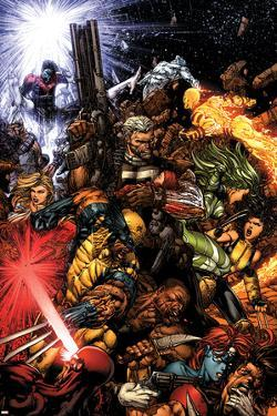 X-Men No.207 Cover: Wolverine and Cable by David Finch