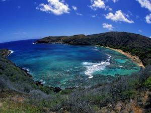 Hanauma Bay Is One of Oahu's Most Popular Snorkeling Sites, Hawaii, USA by David Fleetham