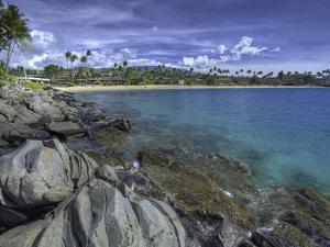 Napili Bay and Beach, Maui, Hawaii, USA by David Fleetham