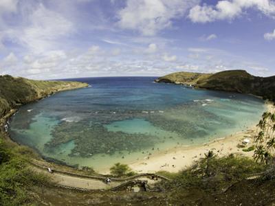 The Hanauma Bay Nature Preserve Is Coastal and Marine Preserve Located on Southeast Oahu by David Fleetham