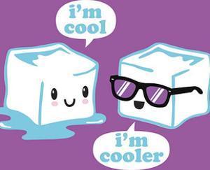 David & Goliath - I'm Cool Humor Poster
