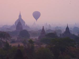 Hot Air Balloons Floating Above the Temples by David Greedy