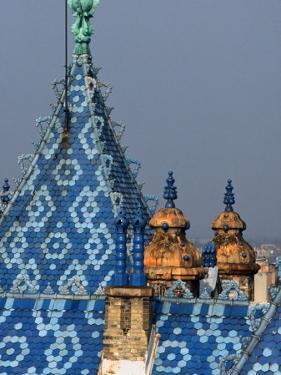 Zsolnay Tiles on the Roof of the Geological Institute of Budapest, Budapest, Hungary by David Greedy