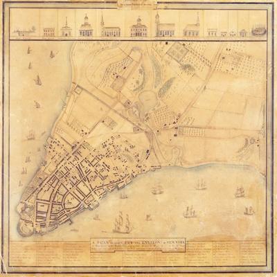 Map of Manhattan, C.1740
