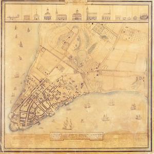 Map of Manhattan, C.1740 by David Grim