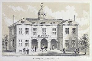 Old City Hall, New York, in 1776, from 'Valentine's Manual', Engraved by George Hayward, 1856 by David Grim