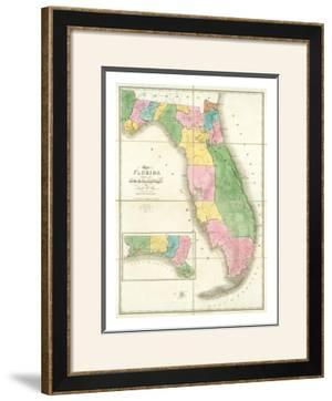 Map of Florida, c.1839 by David H. Burr