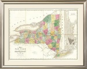 Map of New York, c.1839 by David H. Burr