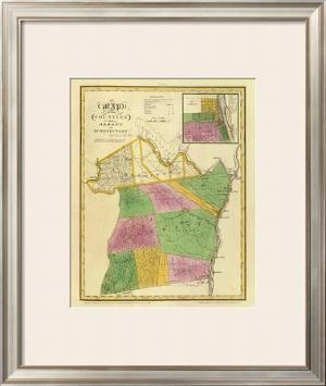 New York: Albany, Schenectady Counties, c.1829 by David H. Burr
