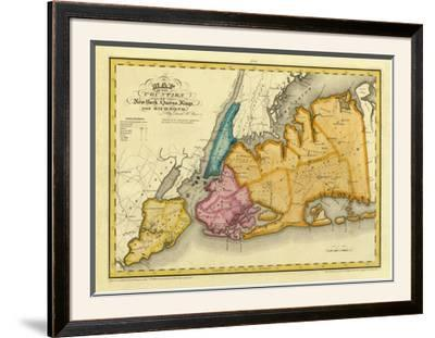 New York, Queens, Kings, Richmond counties, c.1829 by David H. Burr