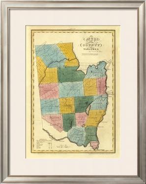 New York, Saratoga County, c.1829 by David H. Burr