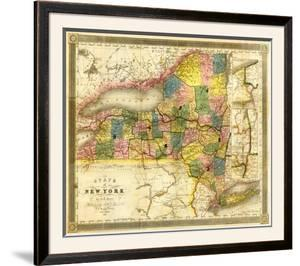 State of New York, c.1840 by David H. Burr