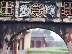 Carved Arch Inside the Imperial Palace, in Hue, Vietnam by David H. Wells
