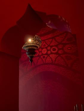 Entrance and Lantern in a Riad in the Medina, Marrakech, Morocco by David H. Wells