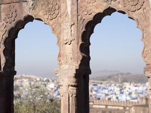 View a Town Through Arched Structure in Jodhpur, Rajasthan, India by David H. Wells