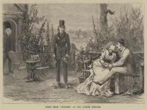 Scene from Bygones, at the Lyceum Theatre by David Henry Friston