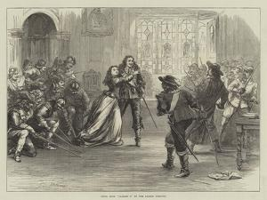 Scene from Charles I at the Lyceum Theatre by David Henry Friston