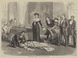 Scene from Delilah at the Olympic Theatre by David Henry Friston
