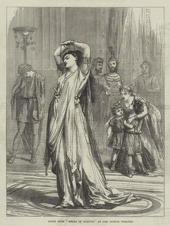 Scene from Medea in Corinth, at the Lyceum Theatre