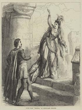 Scene from Rebecca, at Drury-Lane Theatre by David Henry Friston