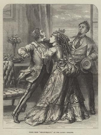 Scene from Shilly-Shally, at the Gaiety Theatre