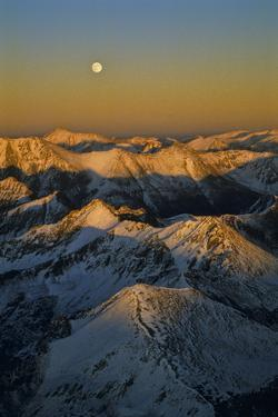 Moonrise Over the Colorado Rocky Mountains Near the Continental Divide by David Hiser